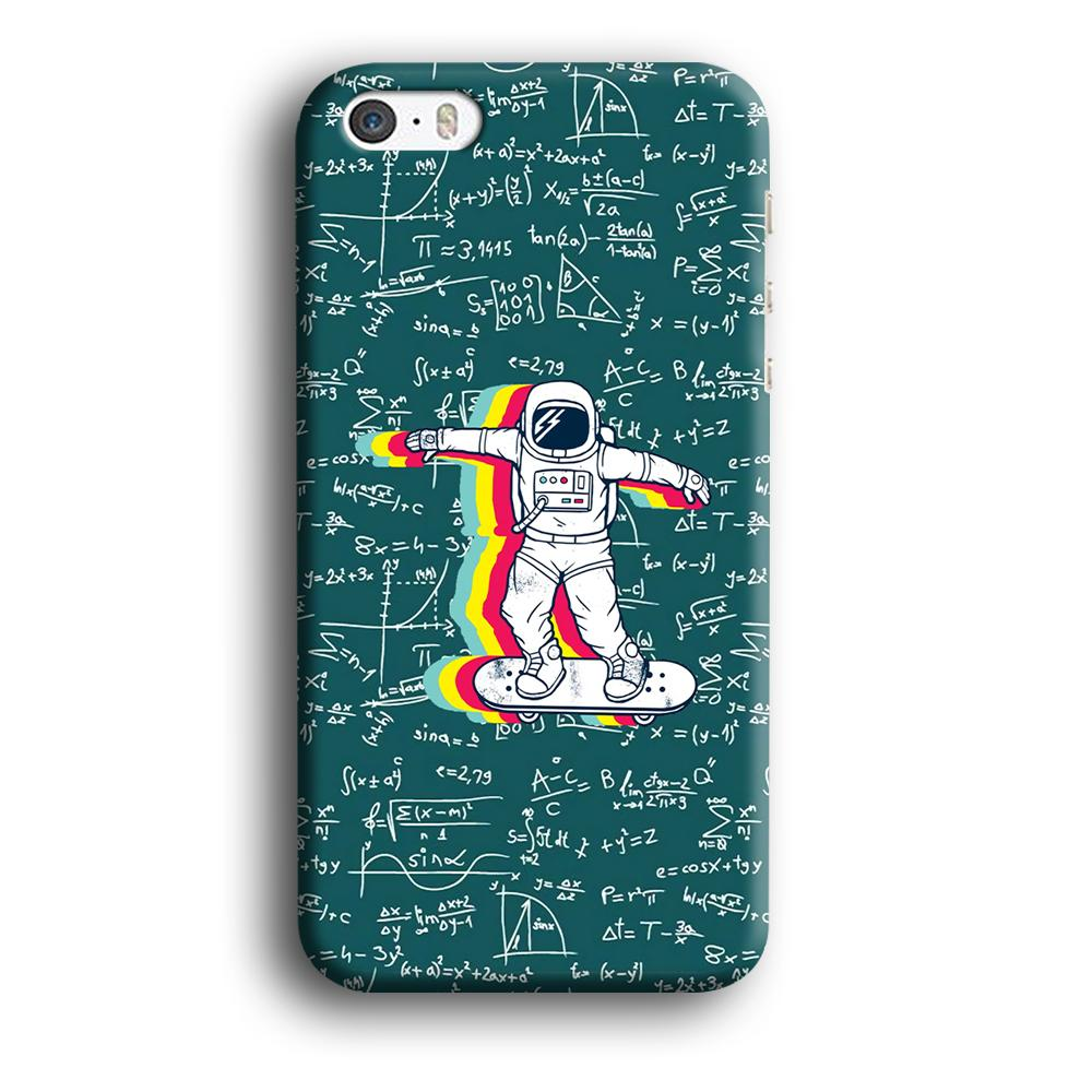 Astronaut Skate in Space Keep it Running iPhone 5 | 5s 3D coque custodia fundas