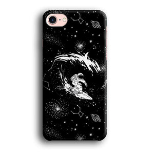 Astronaut Surfing at Stars iPhone 7 3D coque custodia fundas