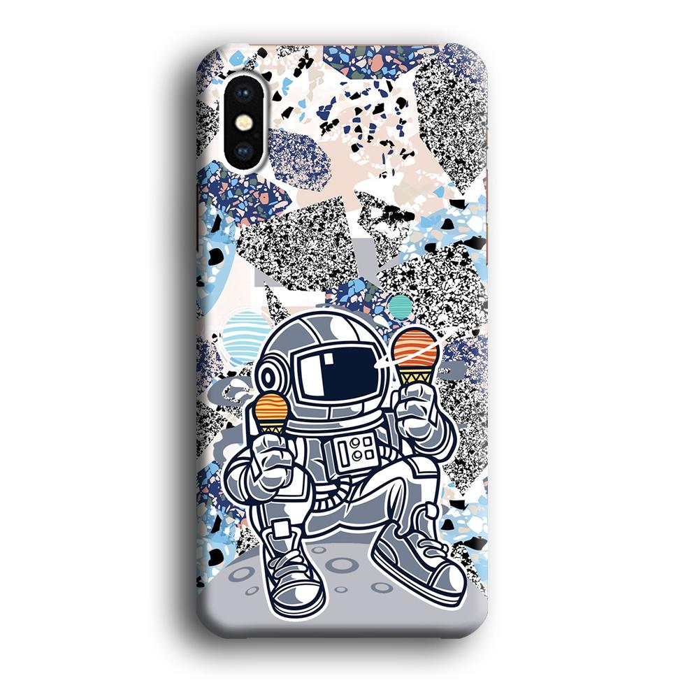 Astronauts Ice Cream Delicious iPhone X 3D coque custodia fundas