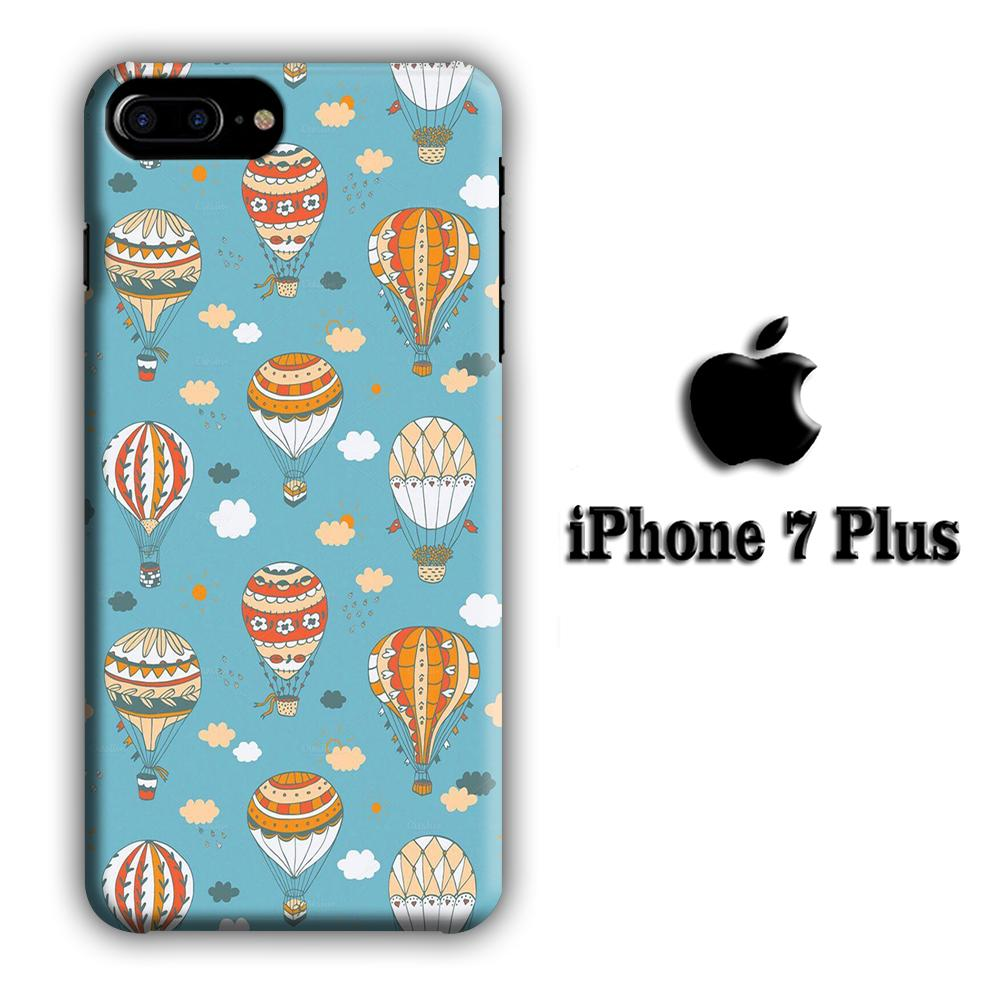 Ballons Cloudy Sky iPhone 7 Plus 3D coque custodia fundas