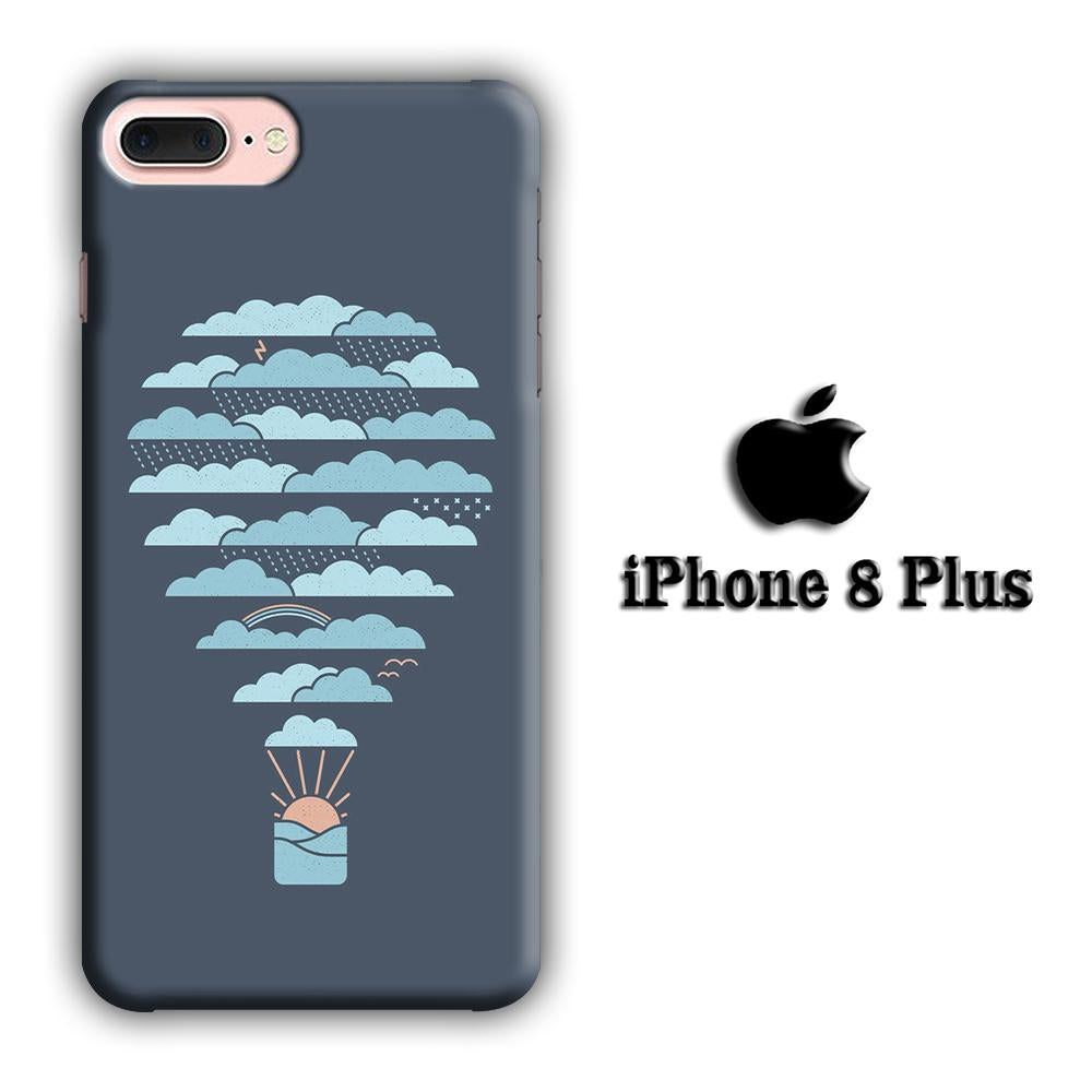 Balloon From Sky Elements iPhone 8 Plus 3D coque custodia fundas