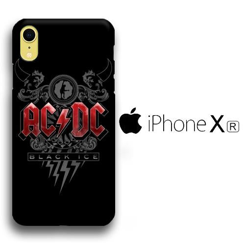 Band ACDC Black Ice iPhone XR 3D coque custodia fundas