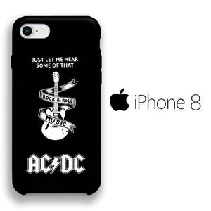 Band ACDC Rockin Heart iPhone 8 3D coque custodia fundas