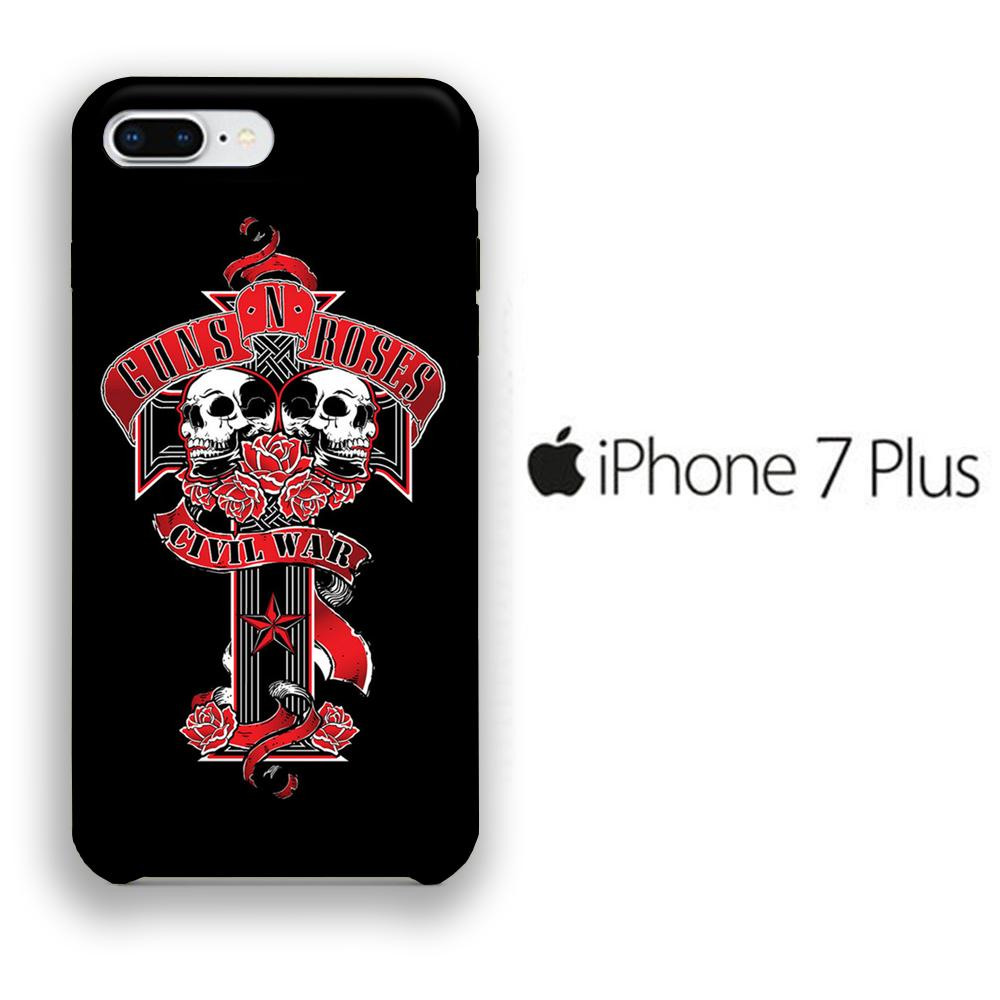 Band GnR Civil War iPhone 7 Plus 3D coque custodia fundas