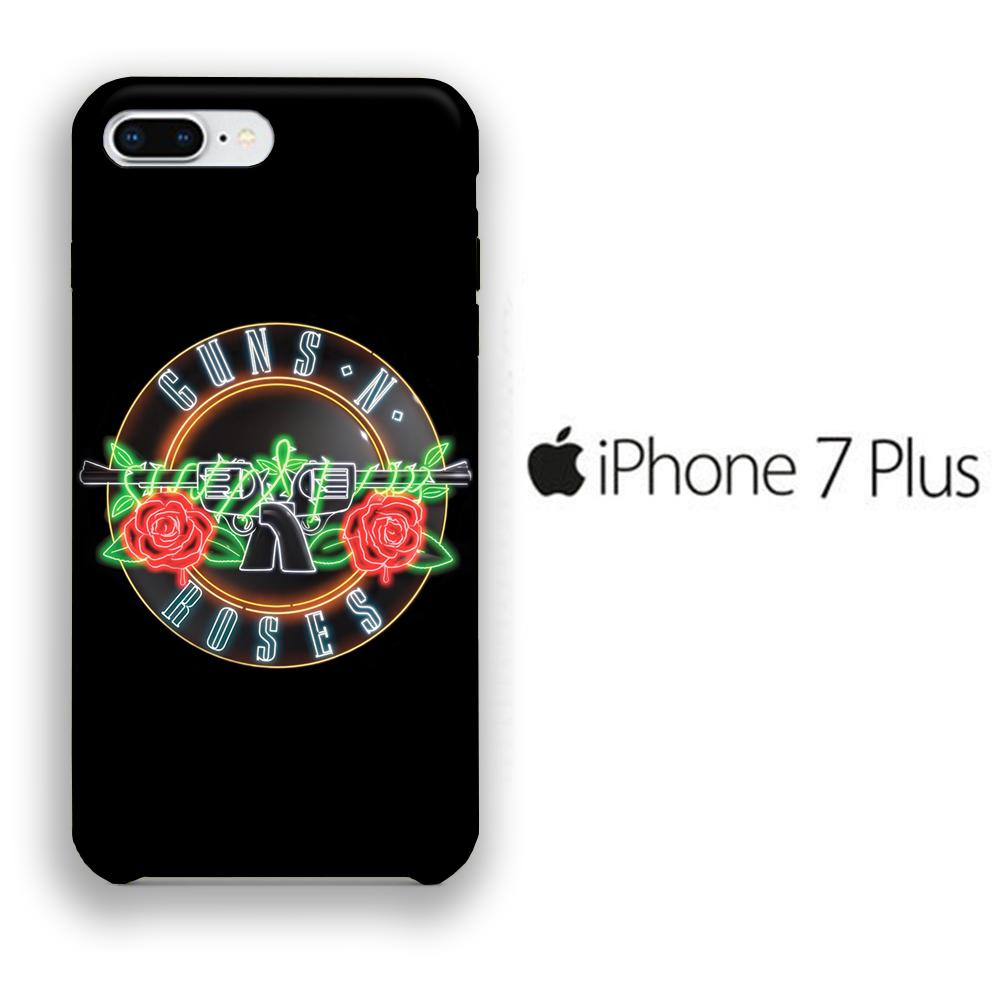 Band GnR Glow iPhone 7 Plus 3D coque custodia fundas