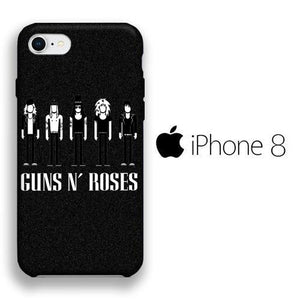 Band GnR Squad iPhone 8 3D coque custodia fundas