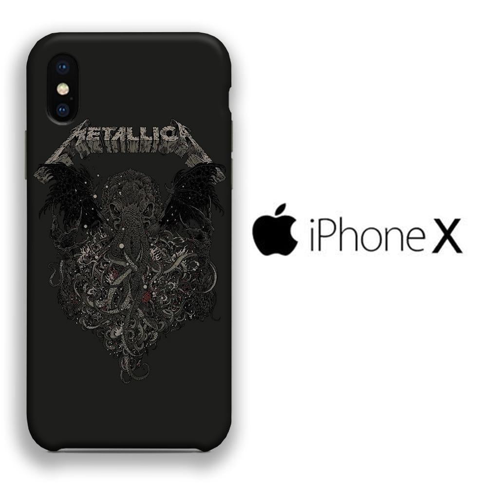 Band Metallica Octopus iPhone X 3D coque custodia fundas