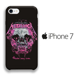 Band Metallica Pink Throne iPhone 7 3D coque custodia fundas