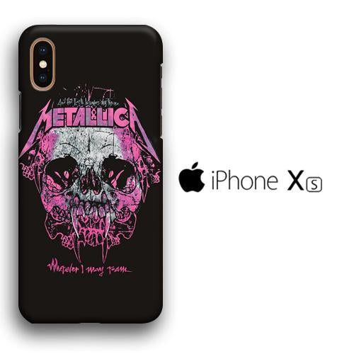 Band Metallica Pink Throne iPhone Xs 3D coque custodia fundas