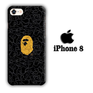Bape Ape Black Camo iPhone 8 3D coque custodia fundas