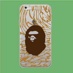Bape Ape Brown Camo coque iPhone 6 | iPhone 6s Clear