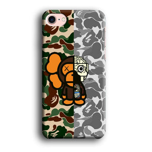 Bape Baby Milo Part of Kaws iPhone 7 3D coque custodia fundas
