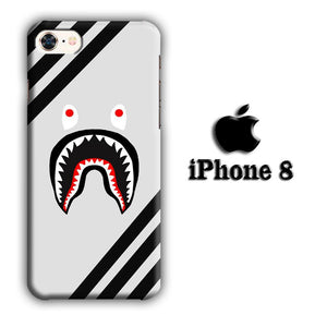 Bape Black Stripe iPhone 8 3D coque custodia fundas