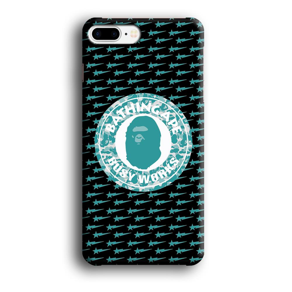 Bape Busy Works Star Ape iPhone 7 Plus 3D coque custodia fundas
