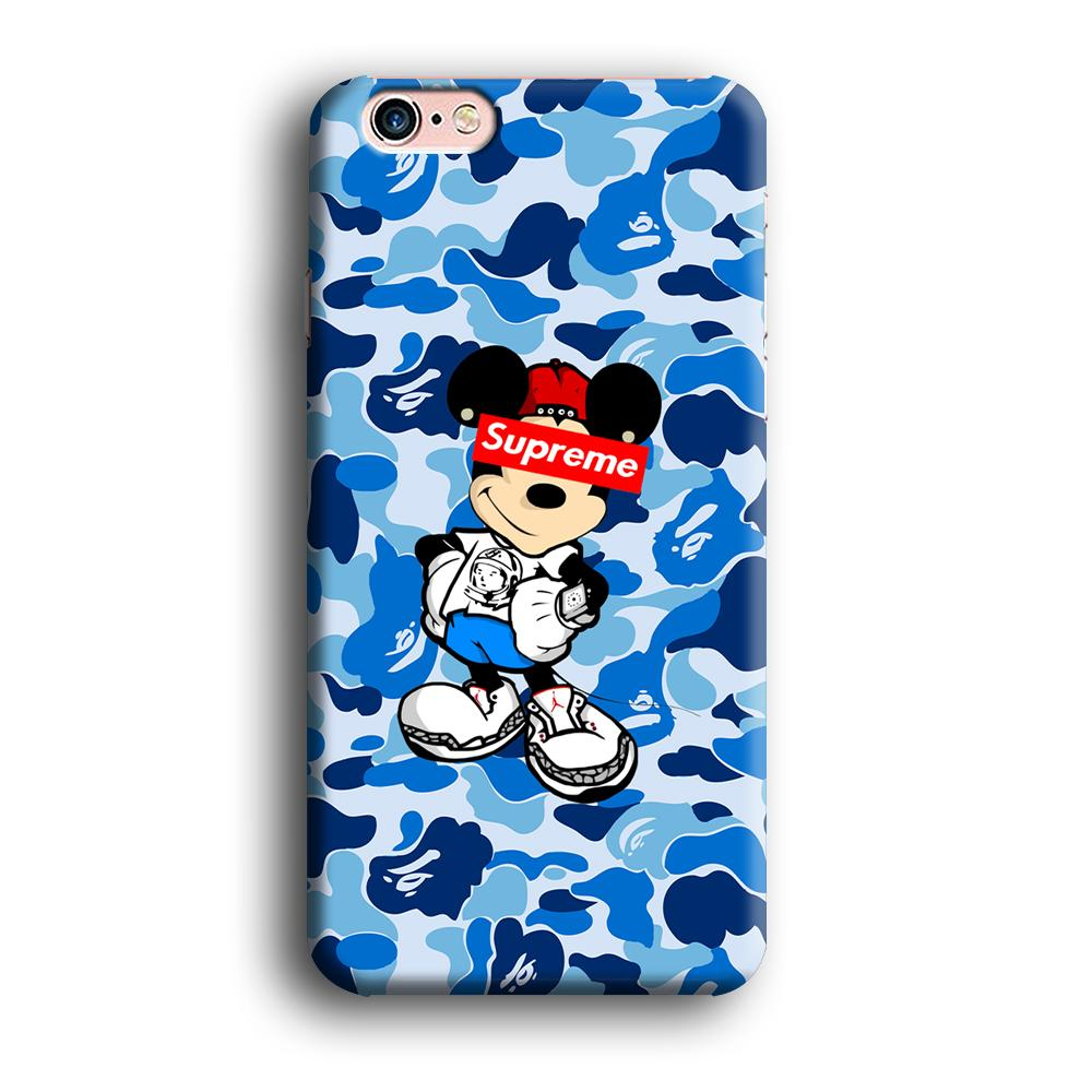 Bape Camo x Supreme Mickey iPhone 6 Plus | 6s Plus 3D coque custodia fundas