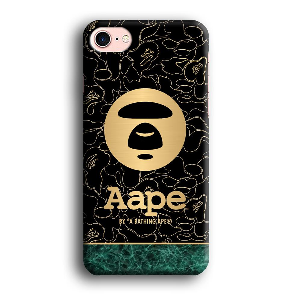 Bape Gold Emerald Line iPhone 8 3D coque custodia fundas
