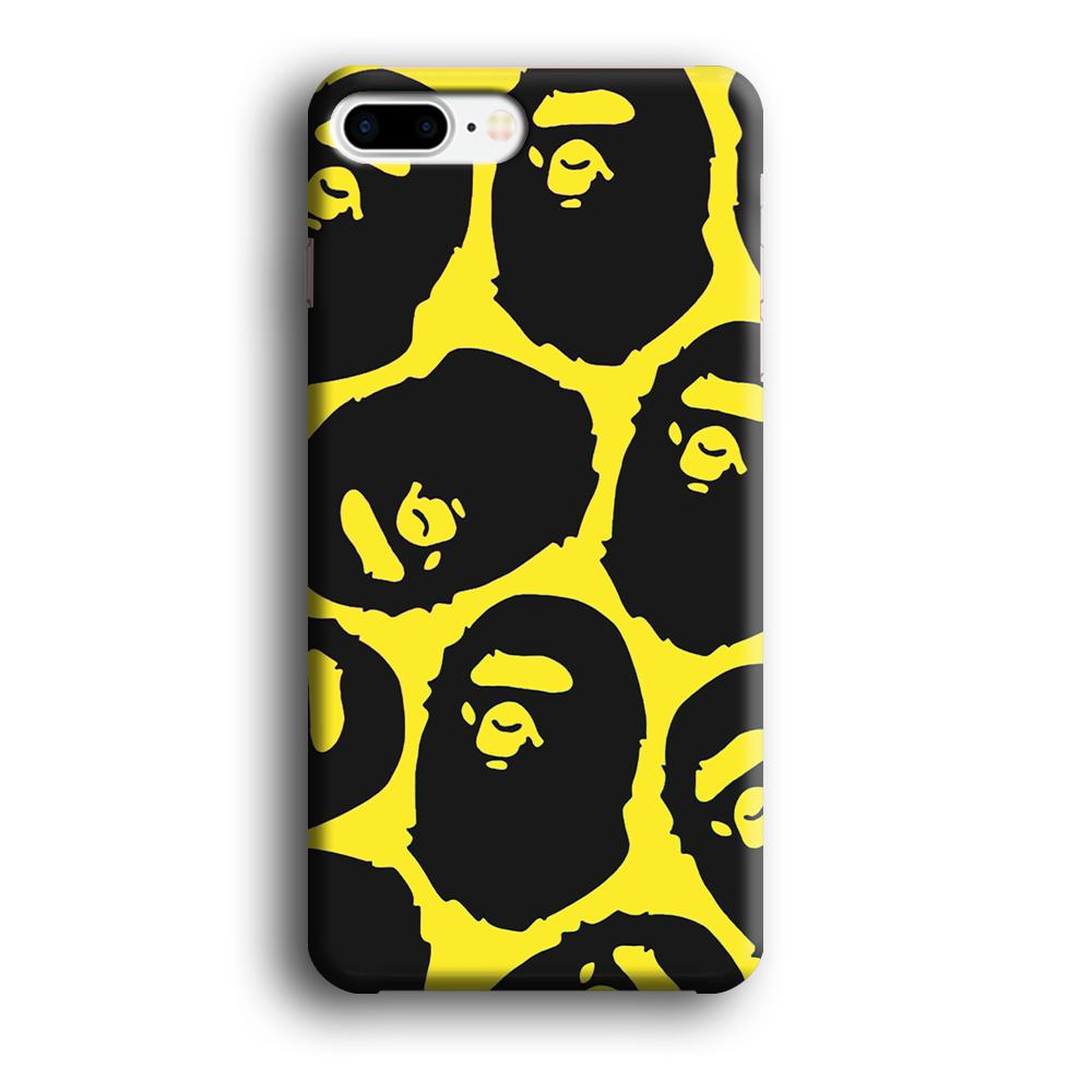 Bape Head Touch iPhone 8 Plus 3D coque custodia fundas
