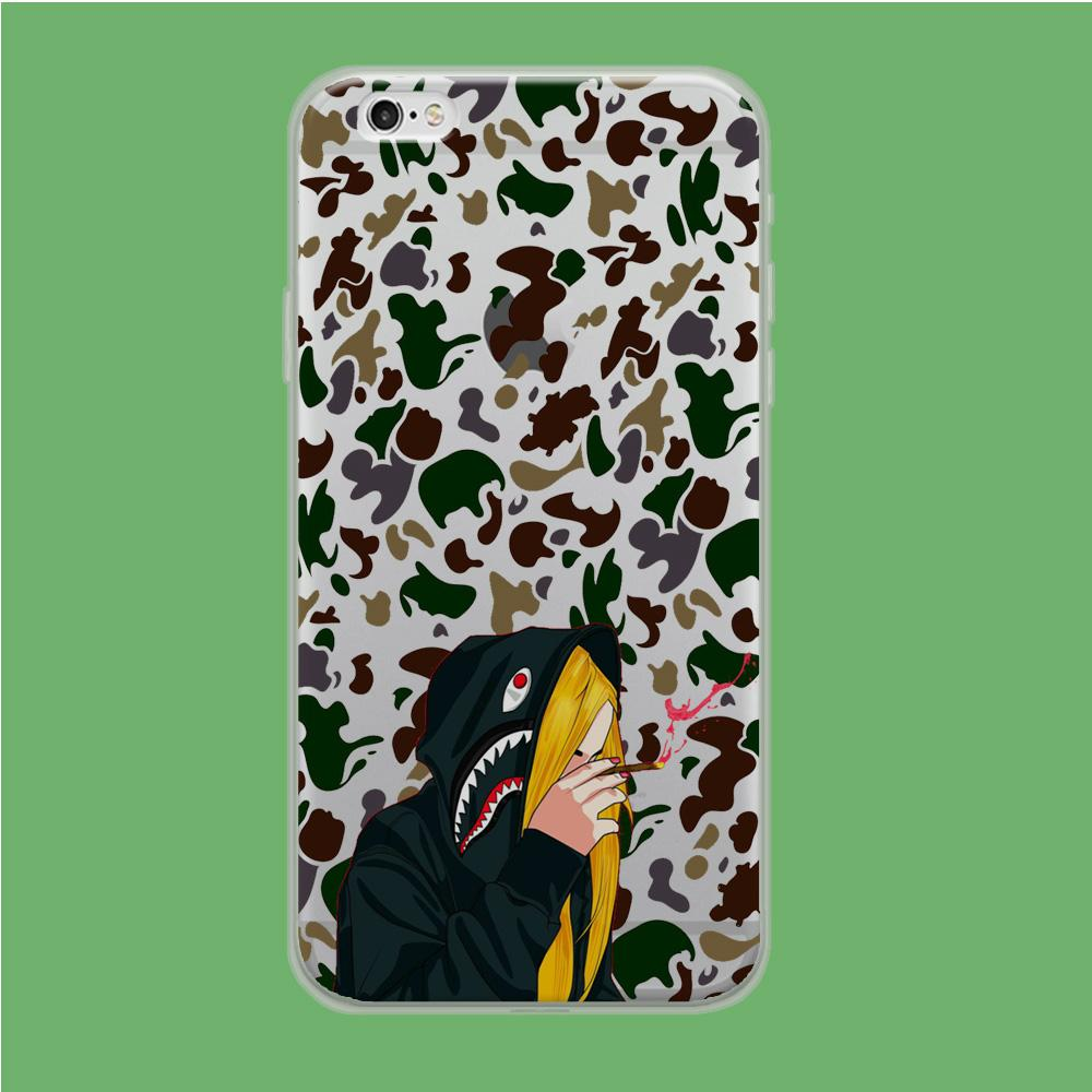 Bape Hoodie Camo coque iPhone 6 | iPhone 6s Clear