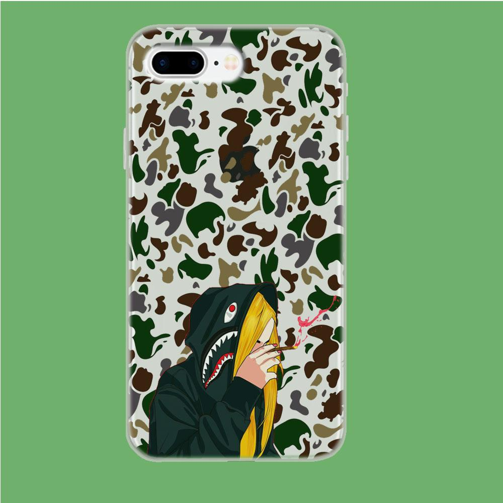 Bape Hoodie Camo coque iPhone 7 Plus Clear