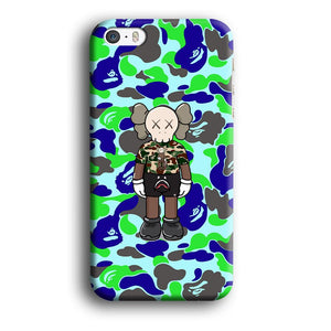 Bape Kaws Patern in Camo iPhone 5 | 5s 3D coque custodia fundas