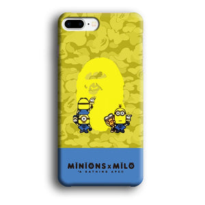 Bape Milo Paint with Minions iPhone 8 Plus 3D coque custodia fundas