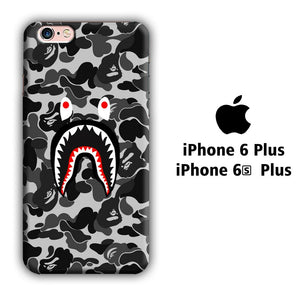 Bape Shark Grey iPhone 6 Plus | 6s Plus 3D coque custodia fundas