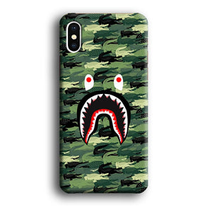 Bape Shark Patern of Crocs iPhone X 3D coque custodia fundas