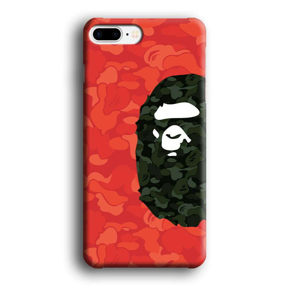 Bape Side Ape Head iPhone 8 Plus 3D coque custodia fundas