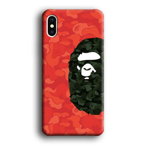 Bape Side Ape Head iPhone Xs Max 3D coque custodia fundas