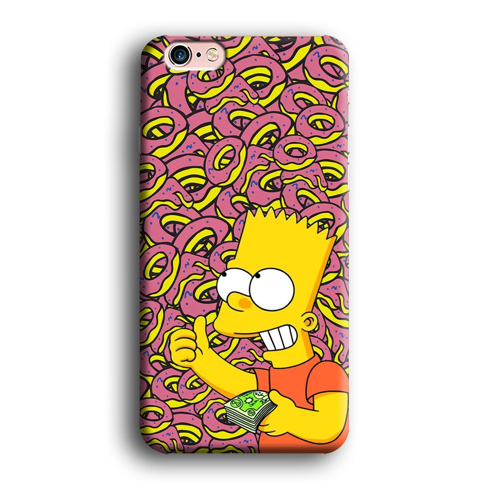 Bart and a Wad of Money iPhone 6 | 6s 3D coque custodia fundas
