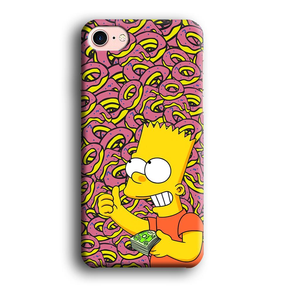 Bart and a Wad of Money iPhone 7 3D coque custodia fundas