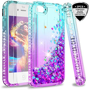 coque iphone 4s liquide paillette