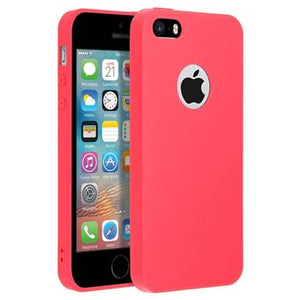 coque iphone 5s rouge silicone
