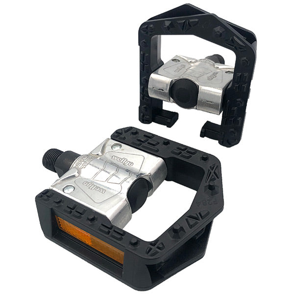 Folding Pedal, alloy body, plastic cage 9/16 inch thread