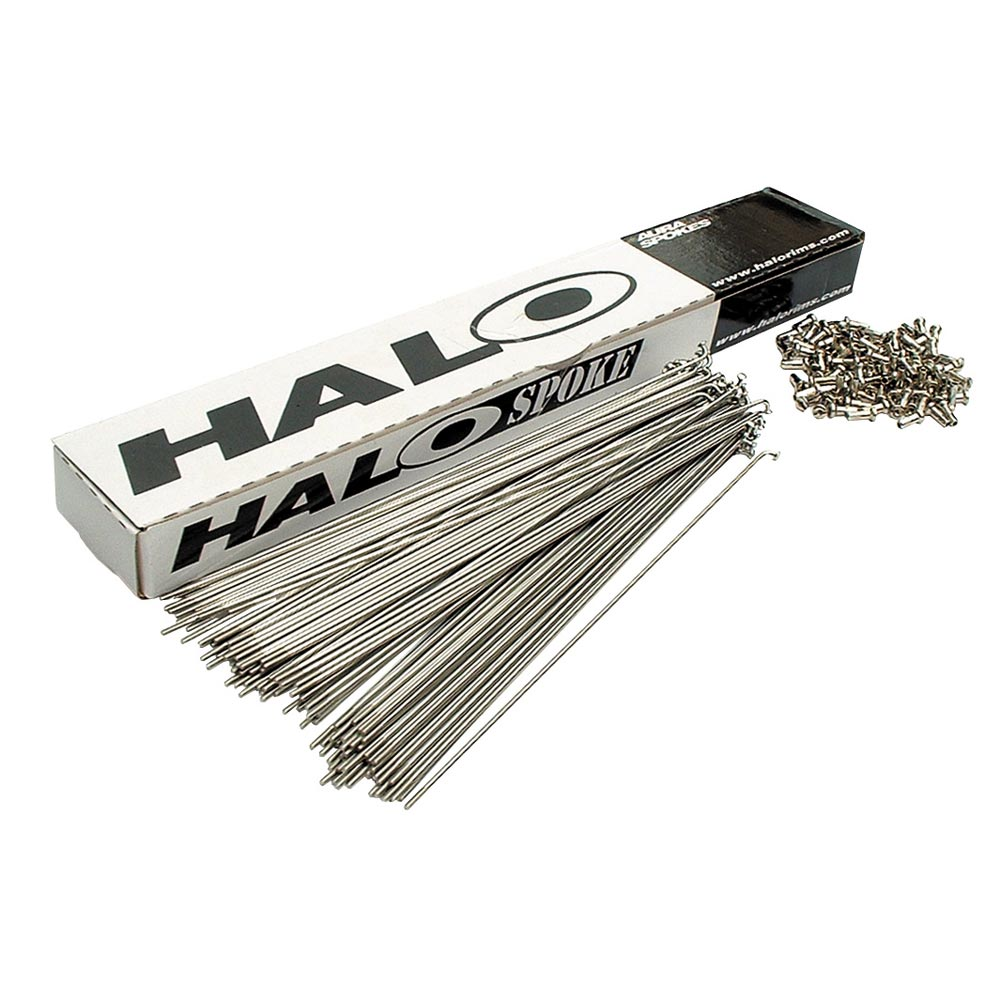 Halo Stainless Steel 14g Spokes, 195mm