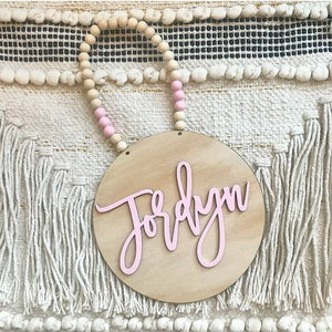 3D Beaded Name Plaque