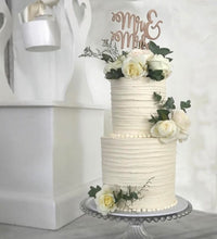 Load image into Gallery viewer, Classic Mr and Mrs Cake Topper