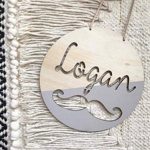 Gentleman Name Plaque
