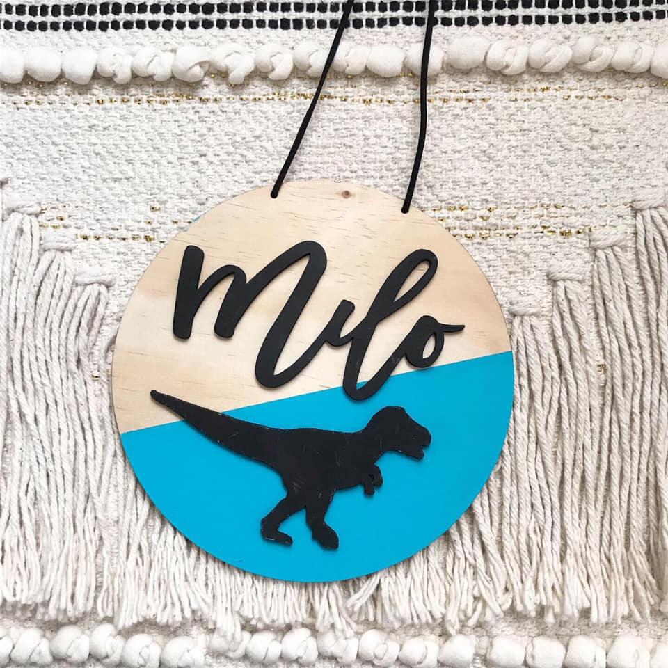 3D Dino Name Plaque