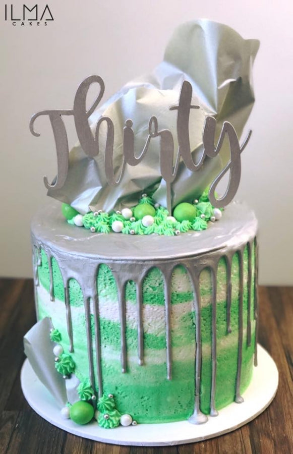 Fancy Number Cake Topper