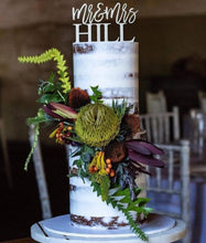Load image into Gallery viewer, Mr Mrs Surname Cake Topper