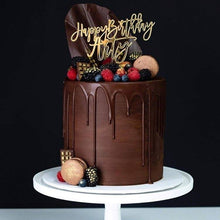 Load image into Gallery viewer, Happy Birthday Name Cake Topper