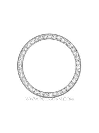 18k White Gold Ladies Diamond Bezel