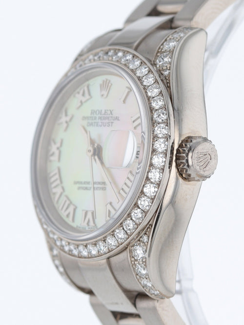 34181: Rolex Ladies 18k White Gold President