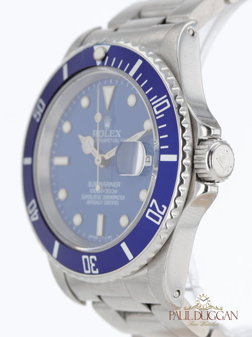Rolex Submariner Custom Blue Ref. 16610