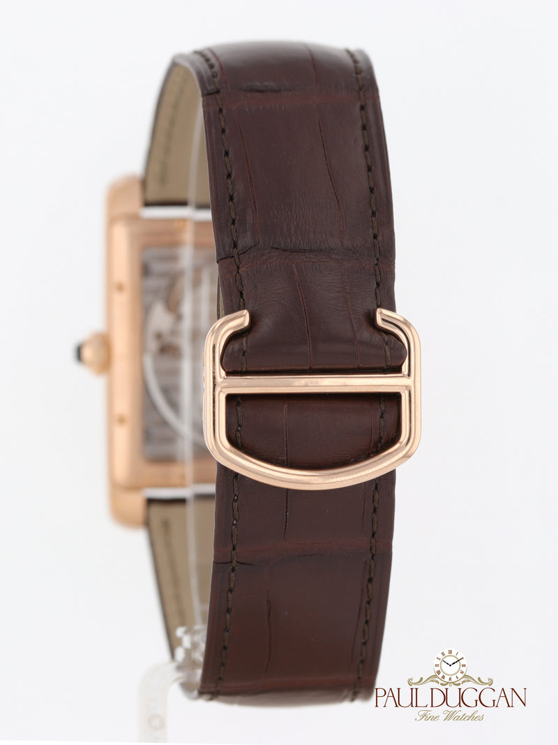 Cartier 18k Rose Gold Large Tank MC Ref. W5330001