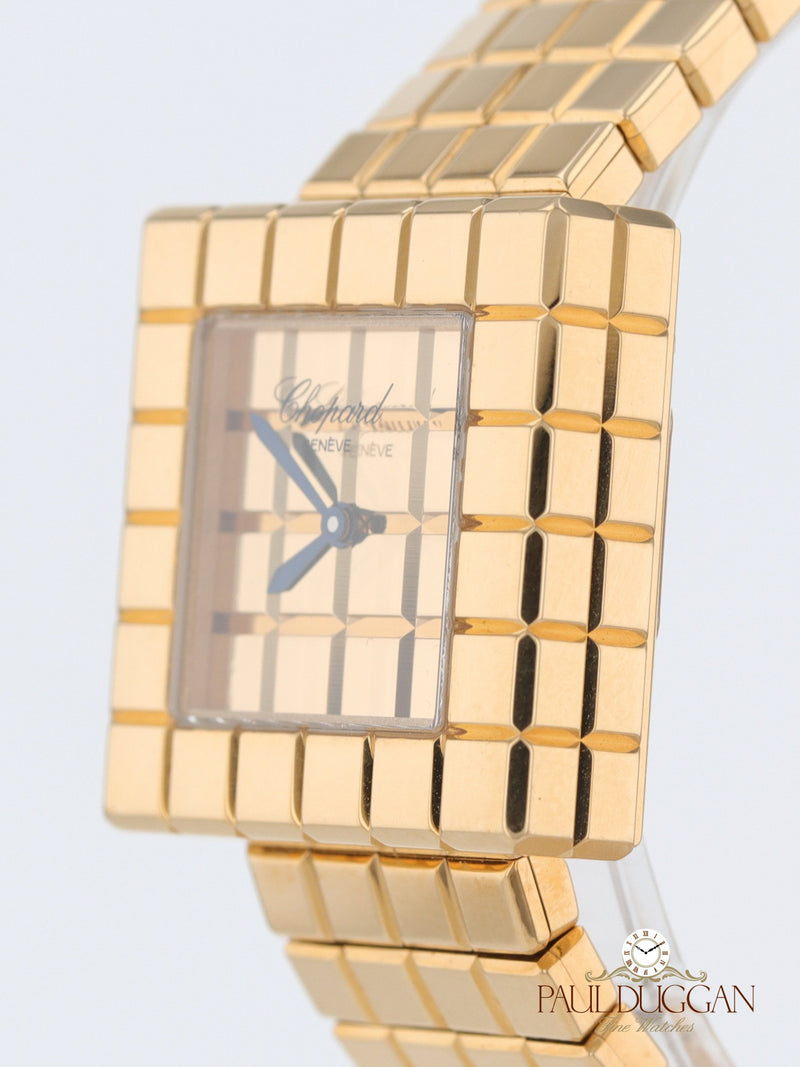 18k Yellow Gold Ice Cube Quartz