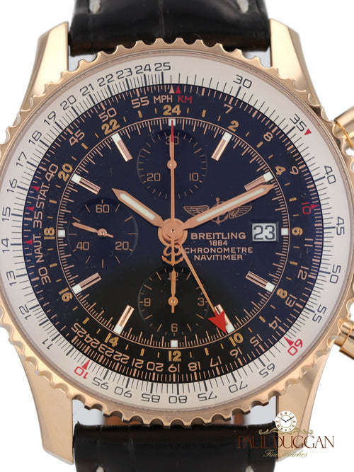Breitling 18k Rose Gold Navitimer World Ref. H24322