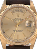 Rolex 18k Yellow gold 1978 President Ref. 18038