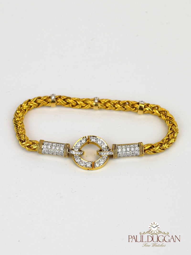 24k Gold & Diamond bracelet